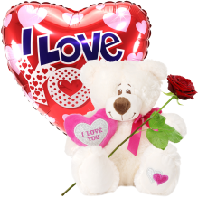 Witte knuffel 32cm + 