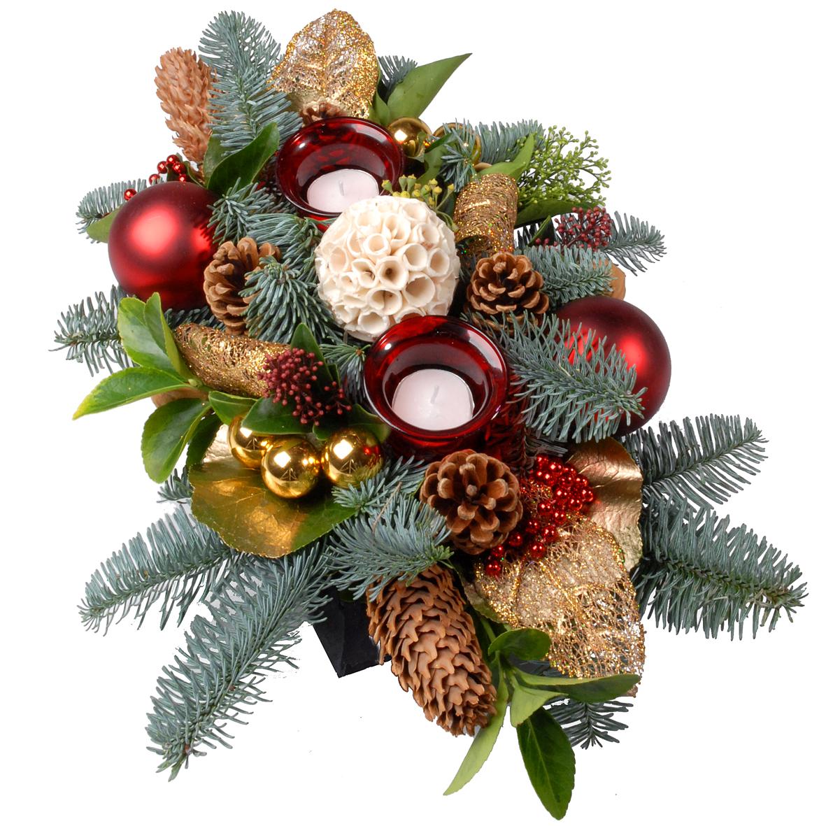 Laag tafel kerststuk bestellen