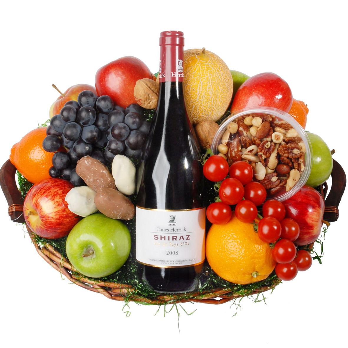 Fruitmand rode wijn de Luxe