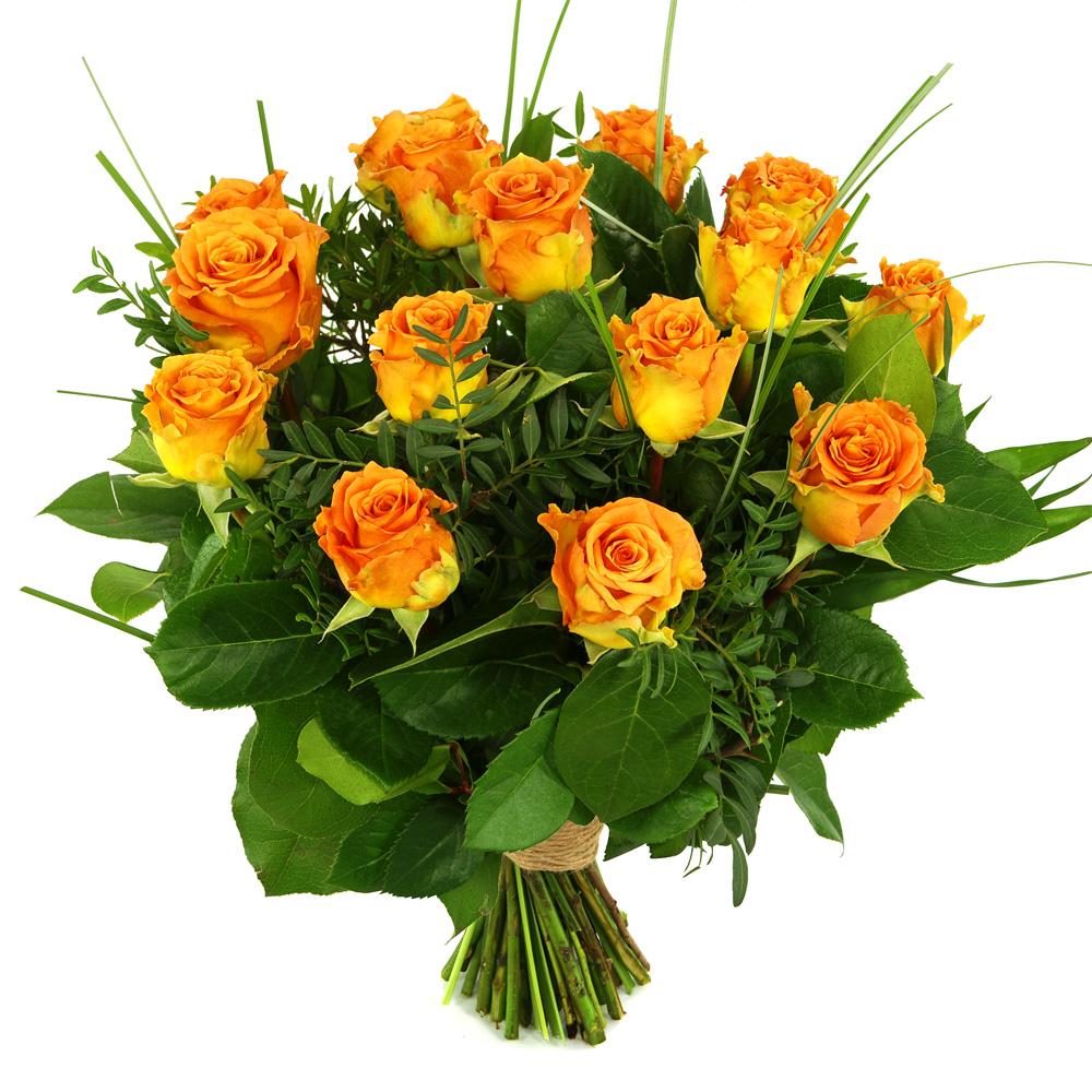 15 Oranje/zalm rozen