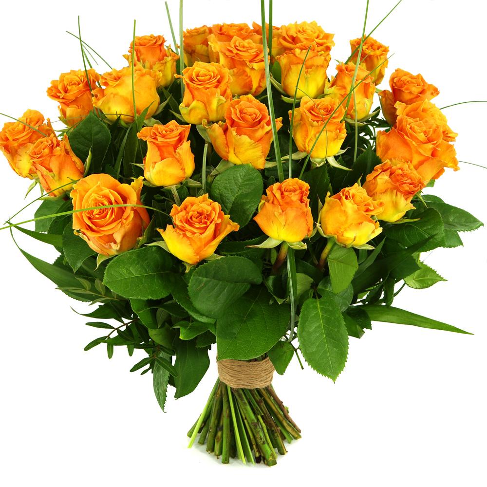 25 Oranje/zalm rozen