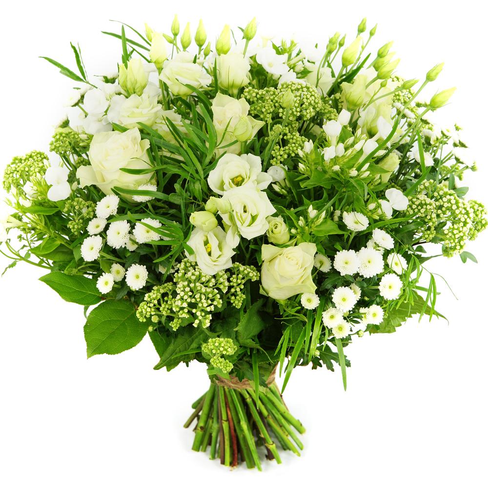 Moederdag boeket witte bloemen