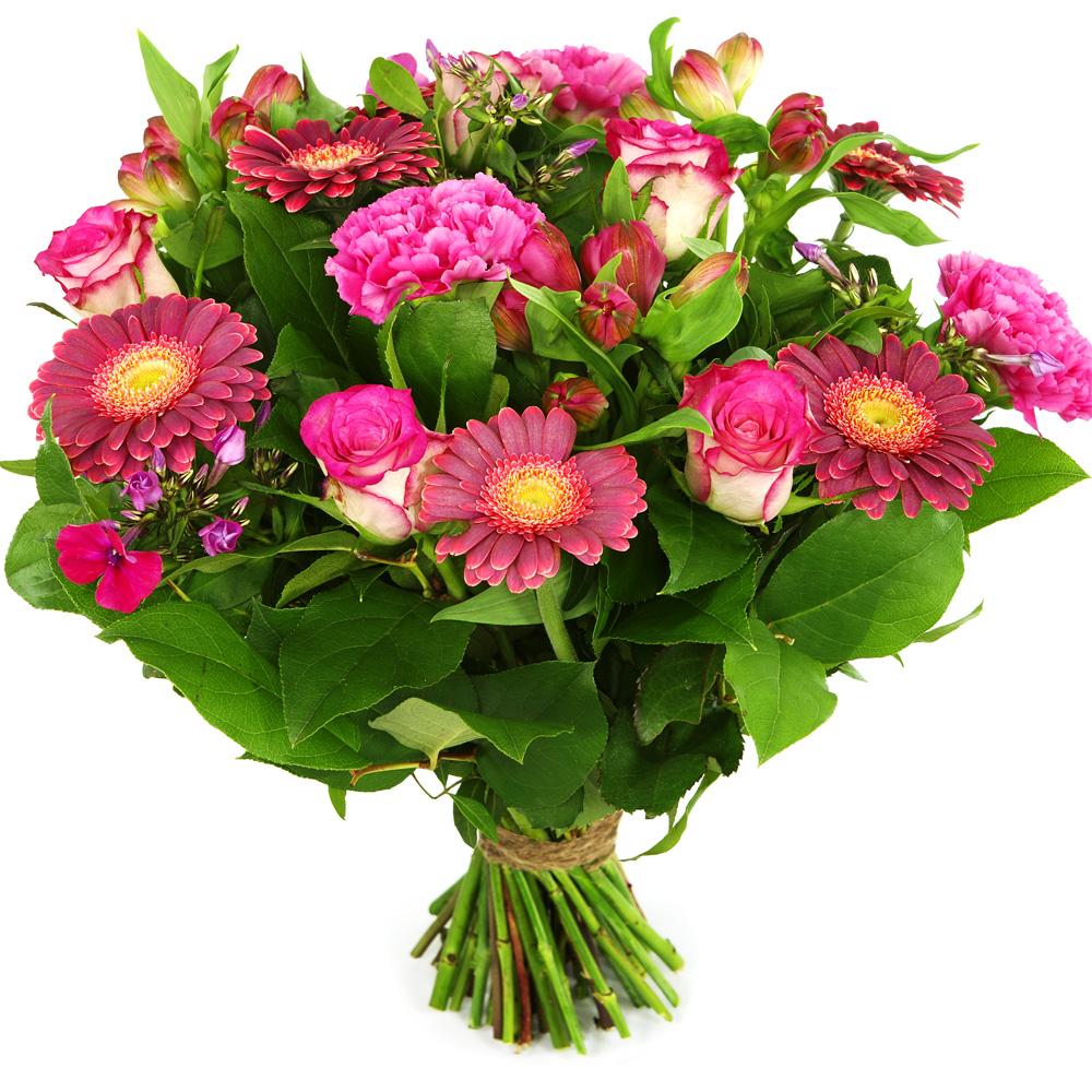 Planten Elegant boeket roze donker roze