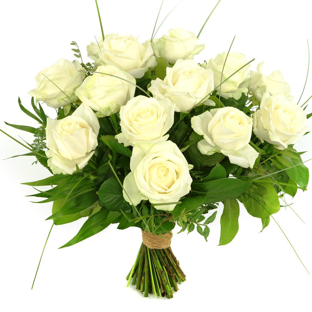 15 Witte rozen