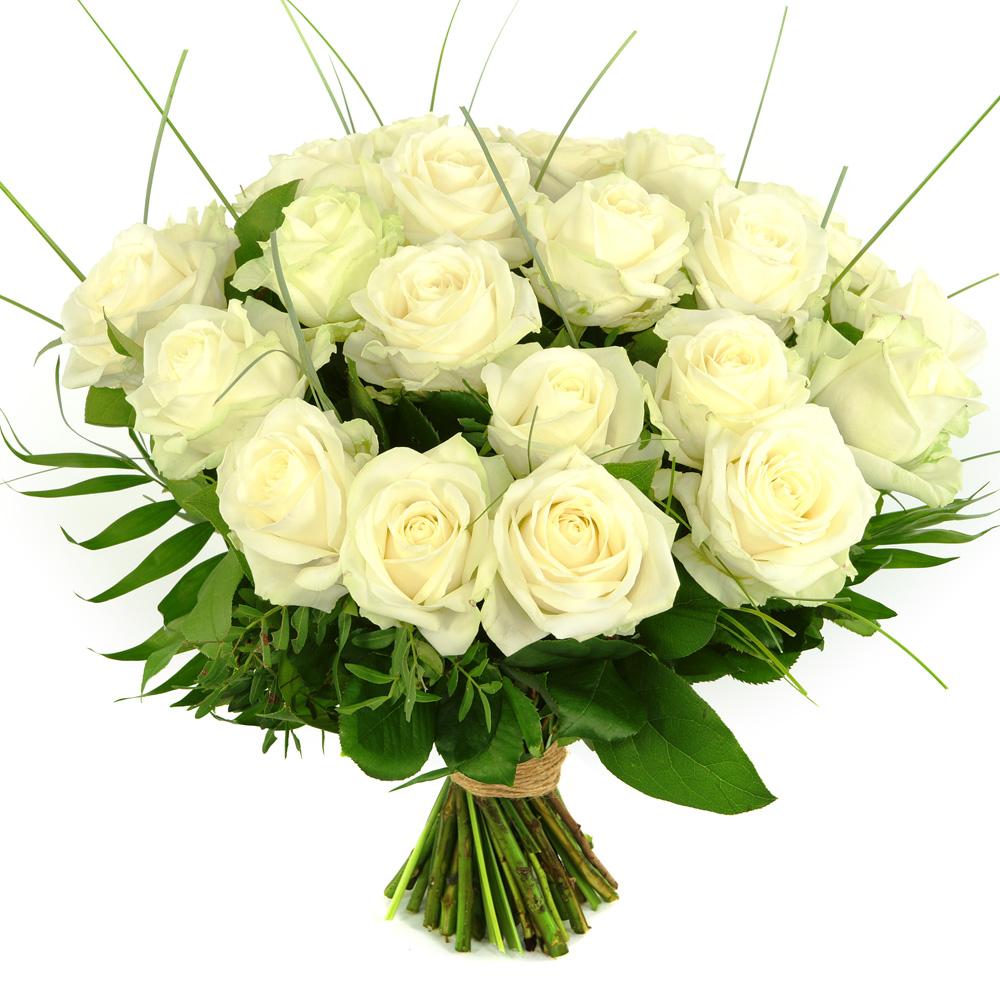 25 Witte rozen