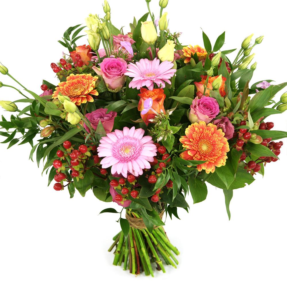 Moederdag boeket: Liefste mama oranje en roze tinten kopen doe je bij van der Voort