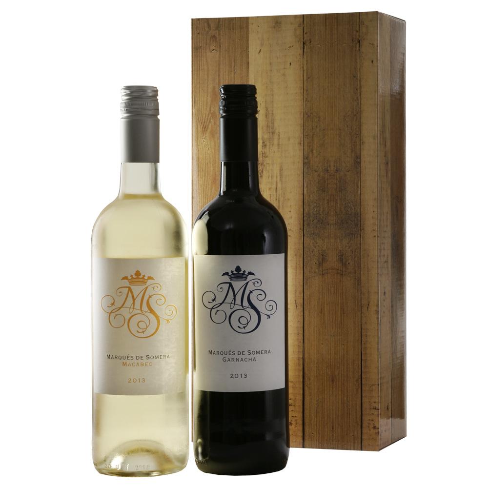 Marqués rode en witte wijn