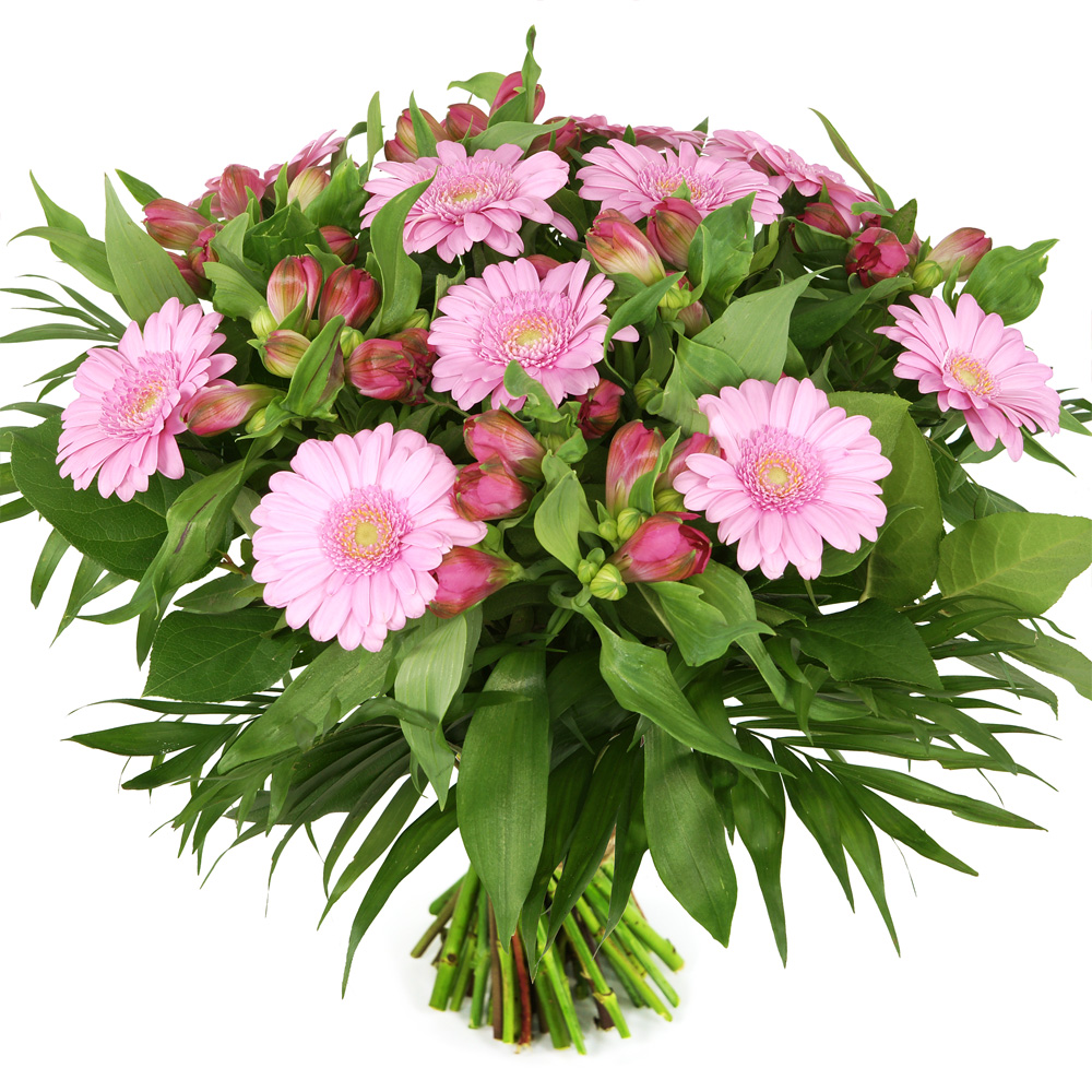 Voordeel boeket roze bloemen bezorgen