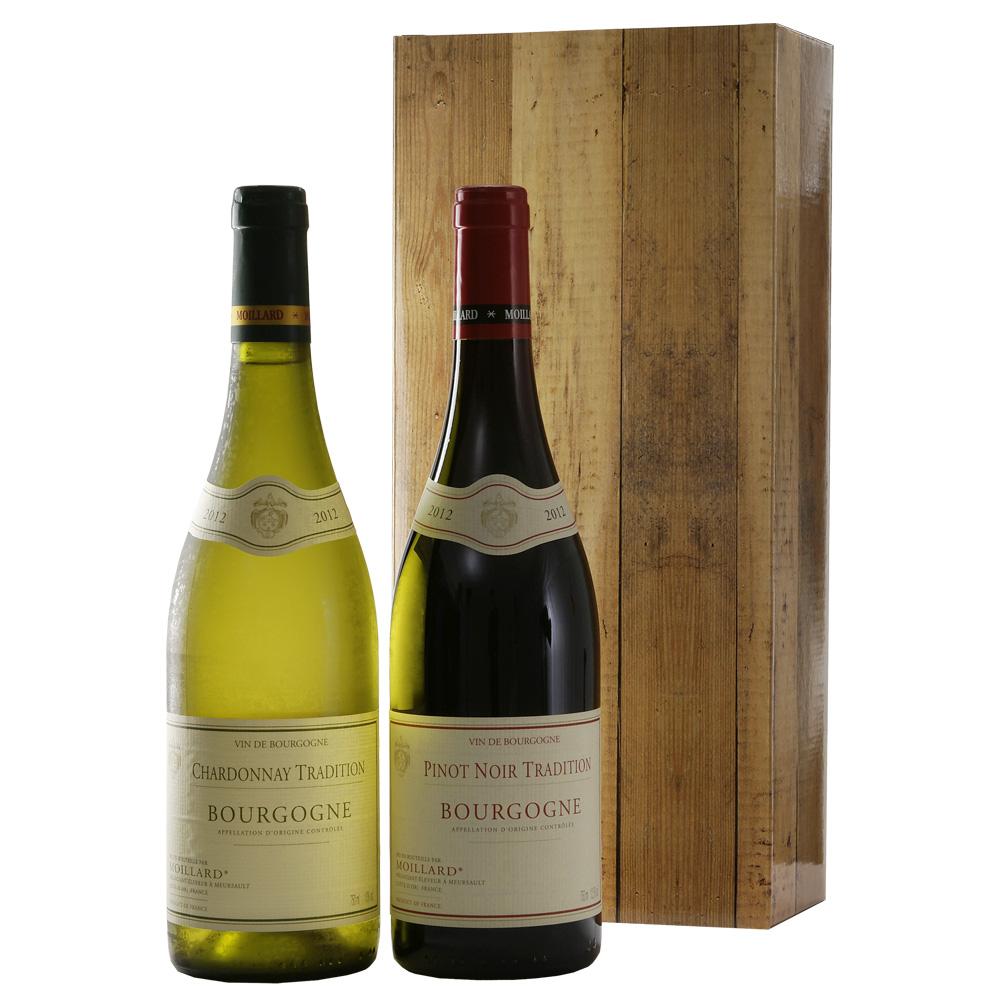 Bourgogne rood en wit