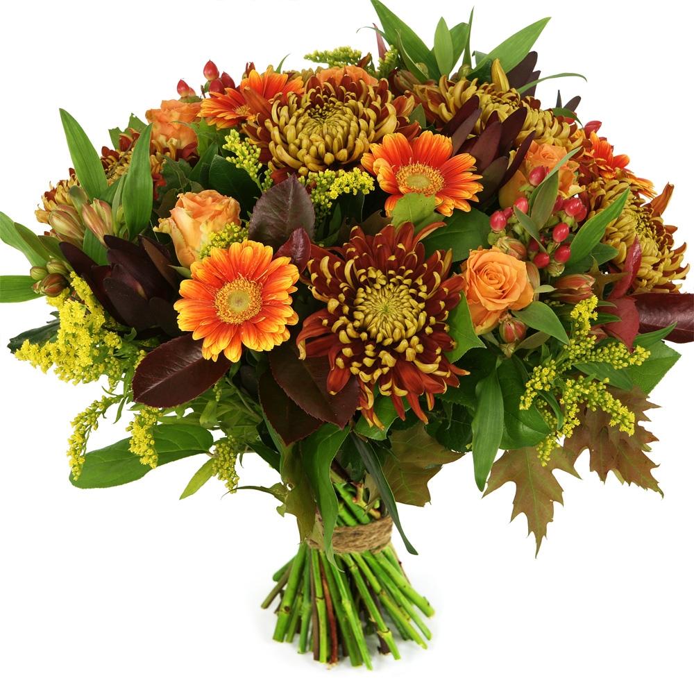 Planten Herfstboeket brons oranje bestellen