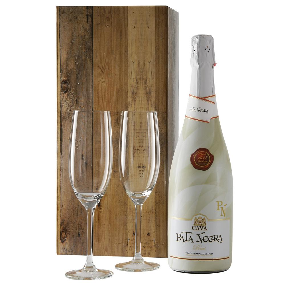 Cava pata negra brut en champagne glazen