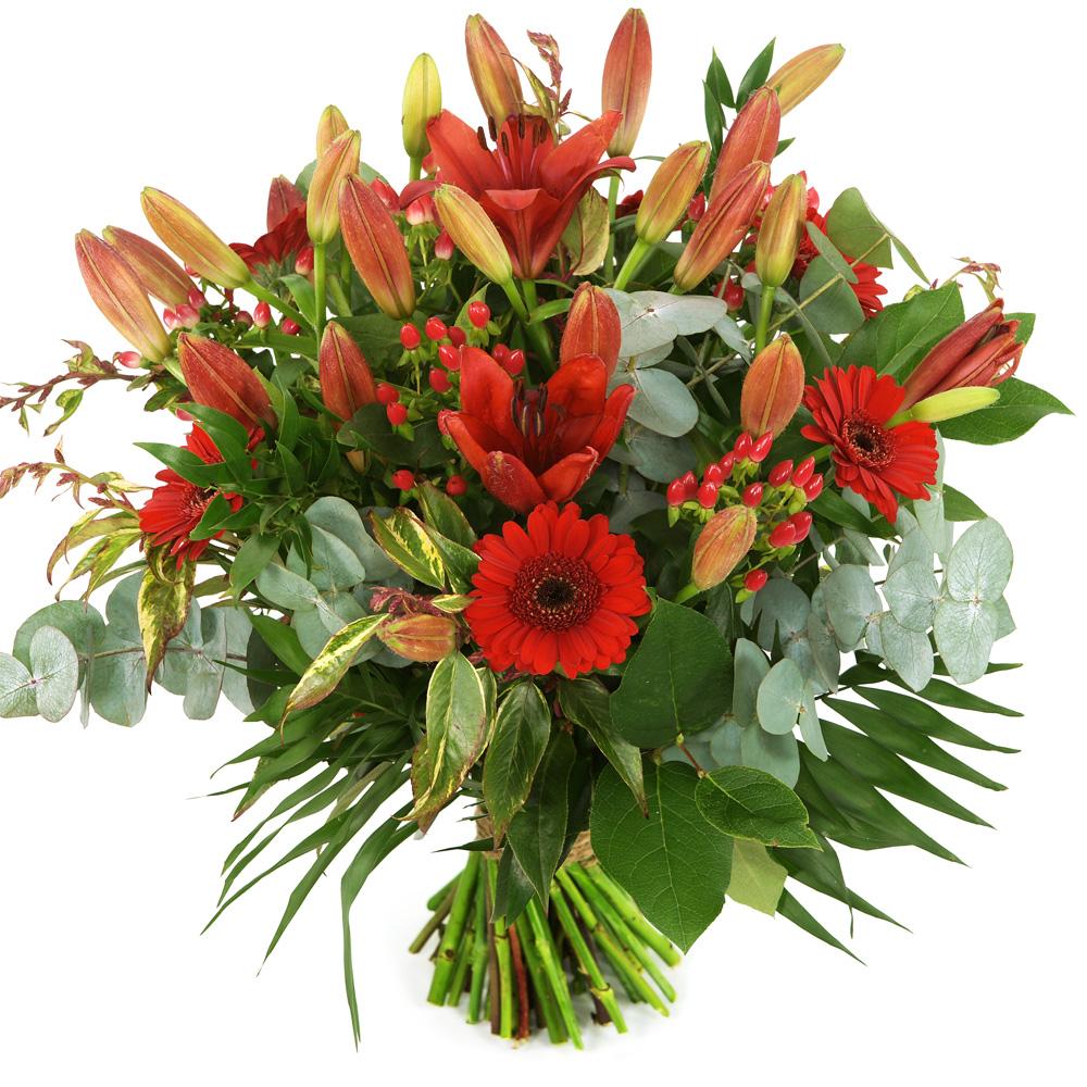 Bloemen bezorgen rood boeket