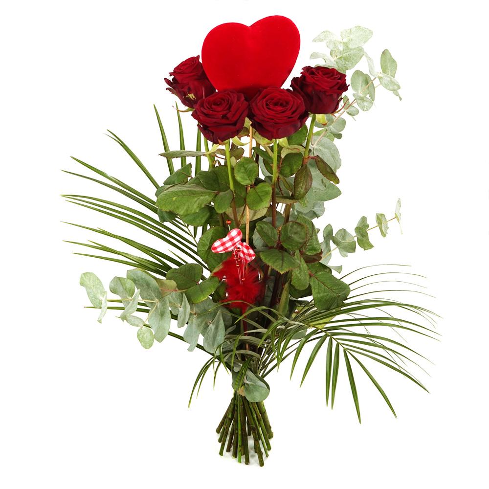 Lange rode rozen met hart