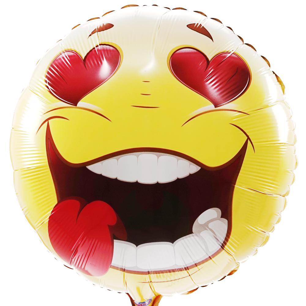 Smiley hartje ballon