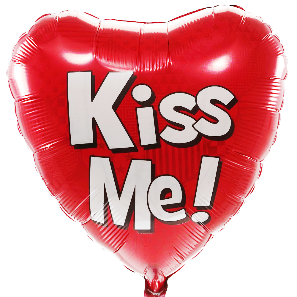 Kiss Me helium balloon