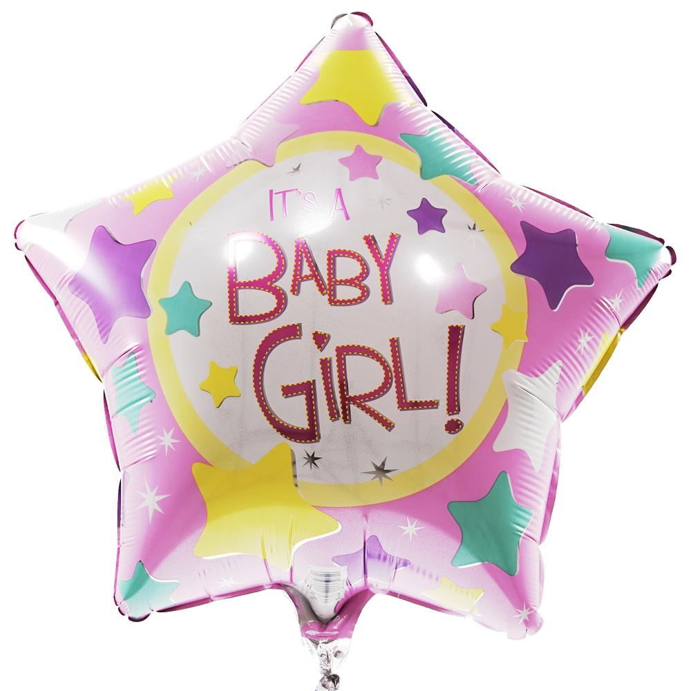 Baby girl ster ballon
