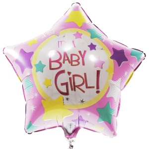 Baby girl ster ballon