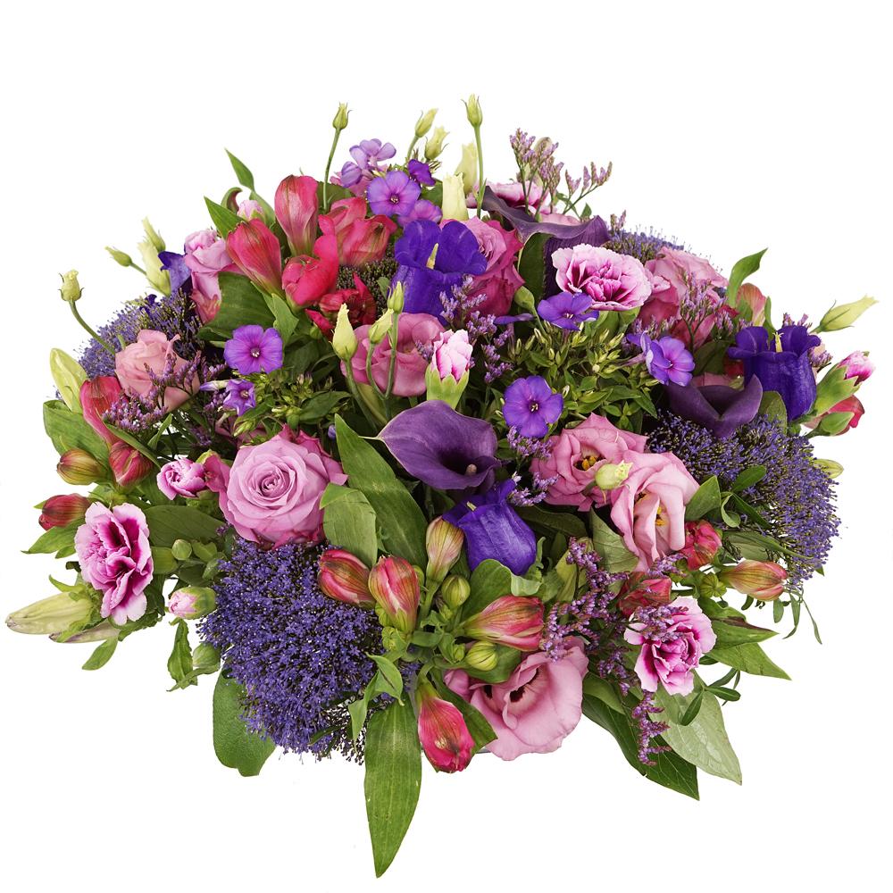 Biedermeier roze paars