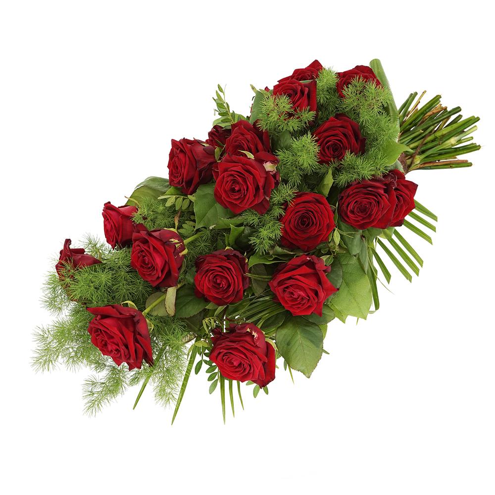 Rouwboeket rode rozen bezorgen