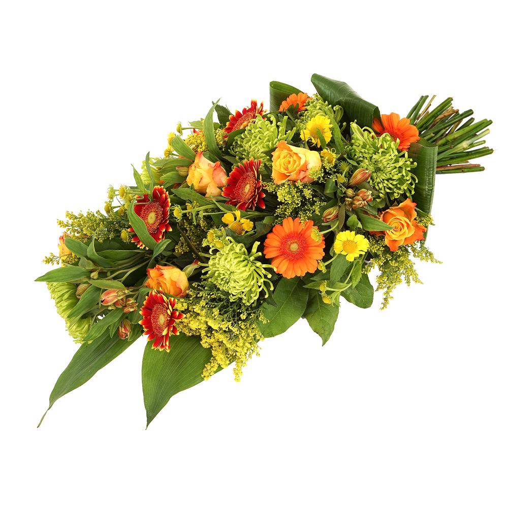 Planten Rouwboeket oranje geel bestellen