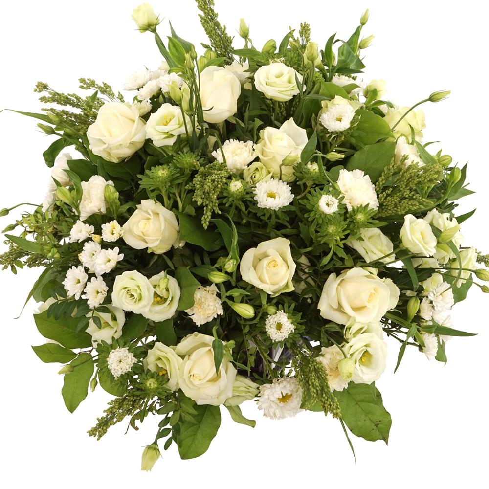Witte rouwbloemen bestellen