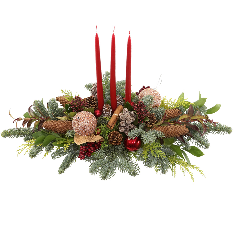 Tafel kerststuk met...