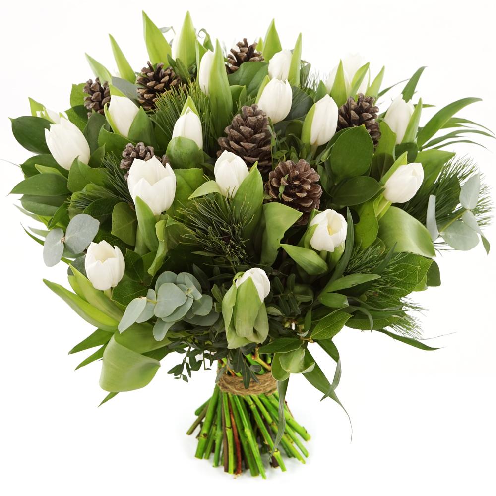 Witte kerst tulpen versturen