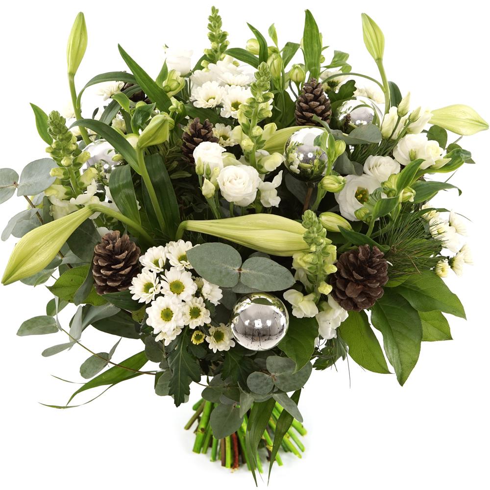 Planten Kerstboeket witte bloemen bezorgen