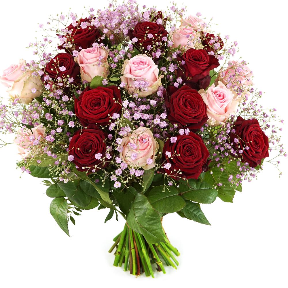 Rozen boeket rode en roze rozen