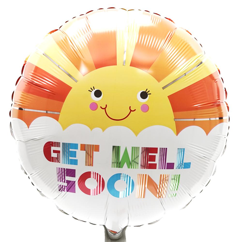 Get well soon ballon Zonnetje