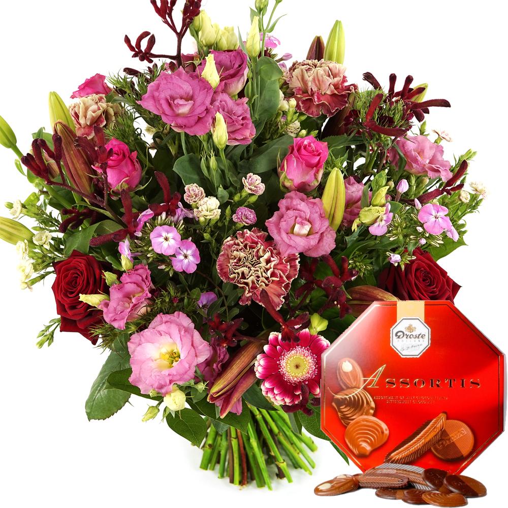 Boeket Romance rode en roze tinten kopen doe je bij van der Voort