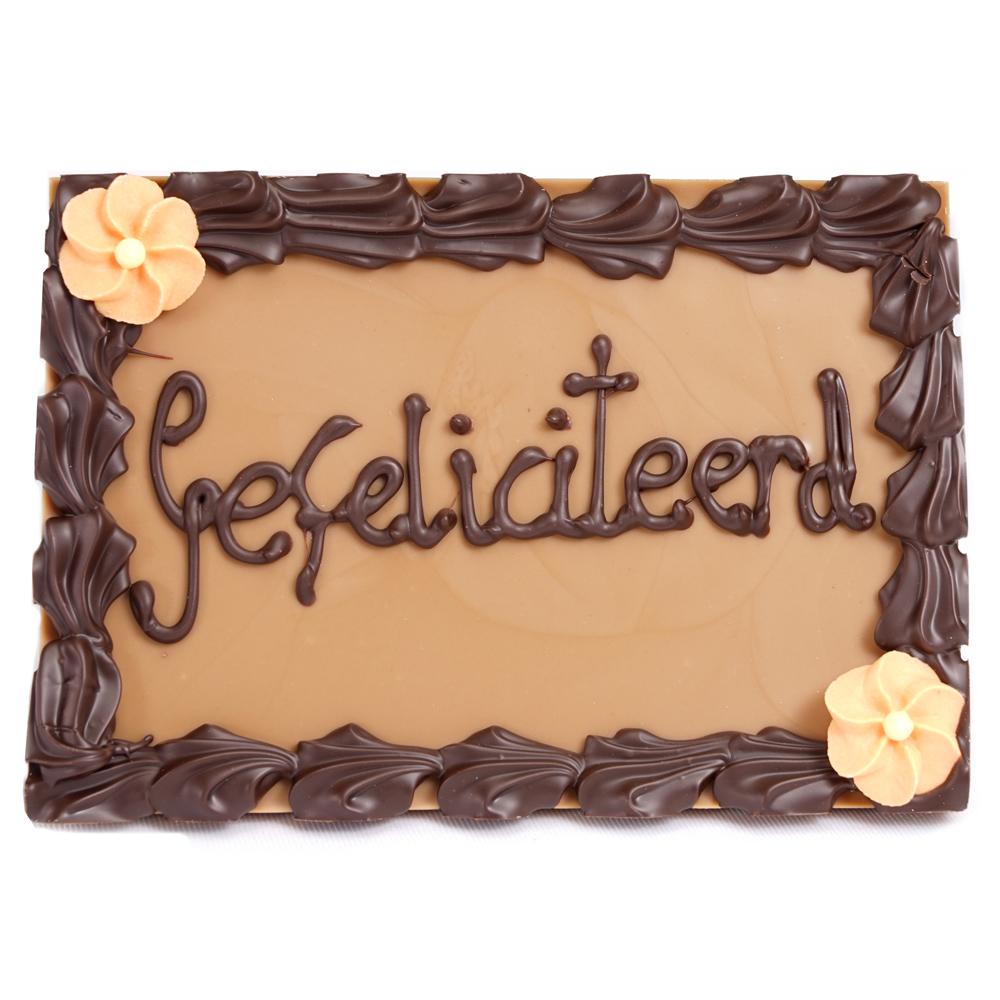 gefeliciteerd met chocolade