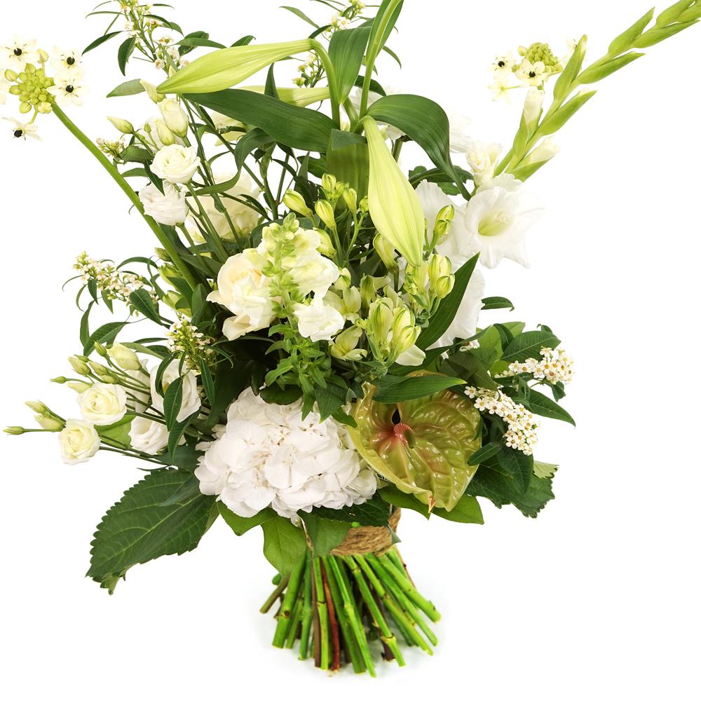 Geplukt boeket witte bloemen bestellen