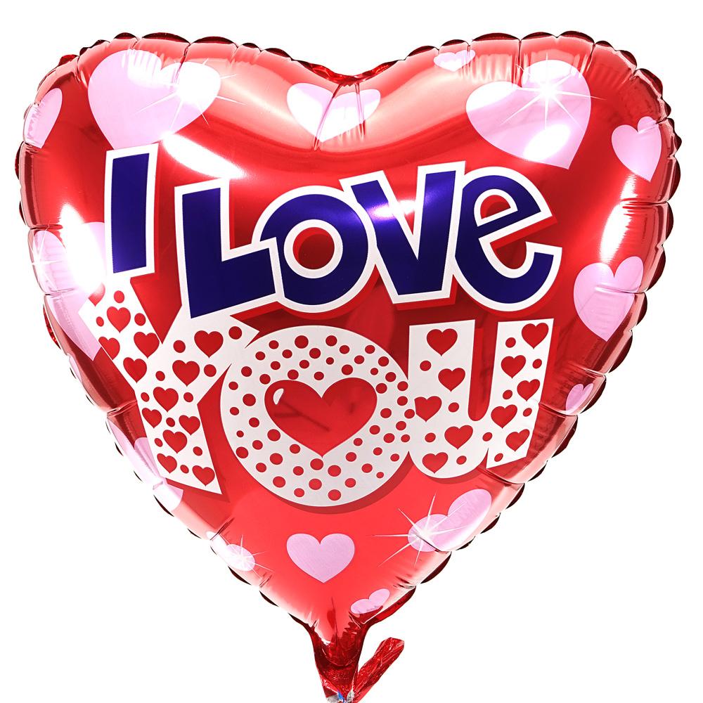 I Love You Ballon Met Hartjes Bestellen Bestel Online Boeketcadeaunl