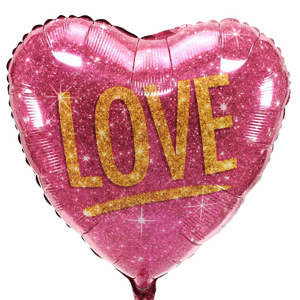 Glitter Heliumballon Love bezorgen