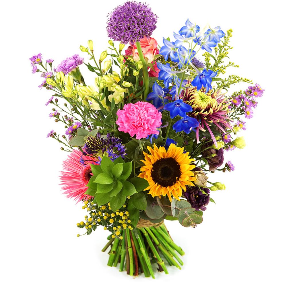Geplukte bont bloemen bezorgen