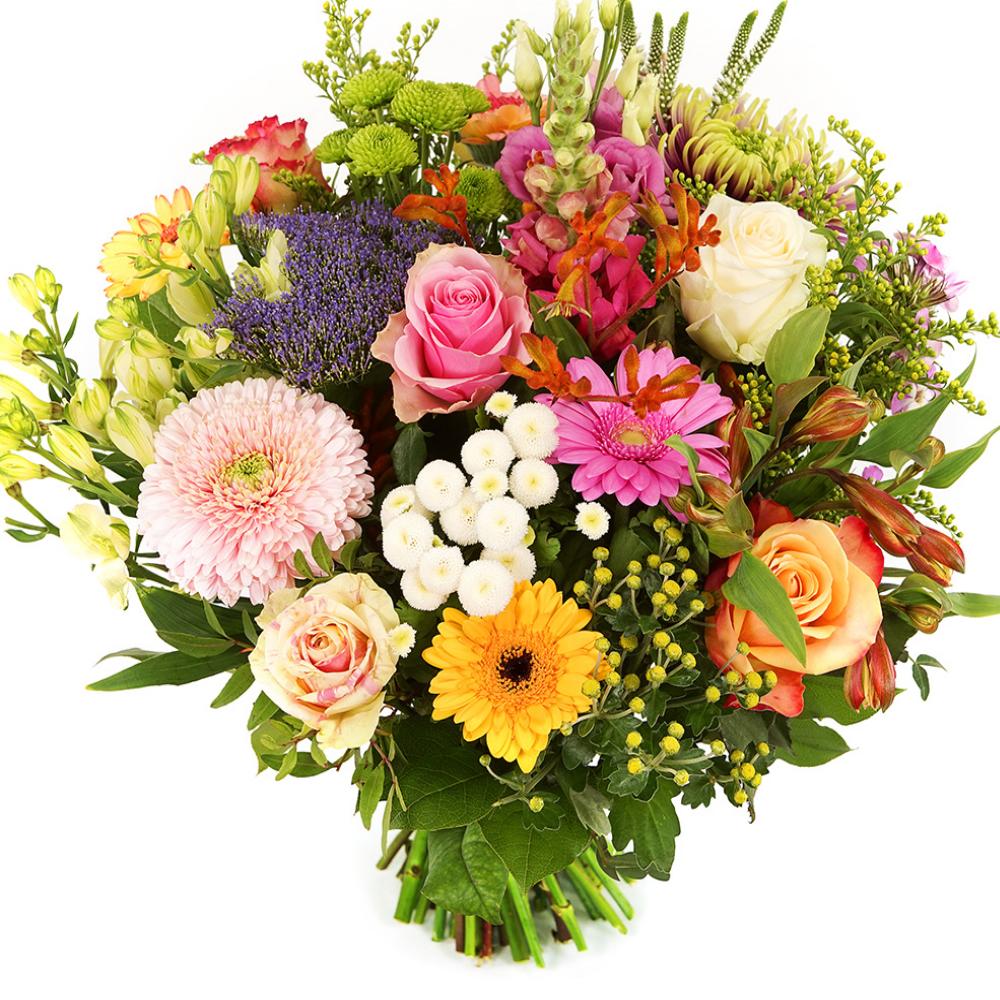 Pastel bonte bloemen bezorgen