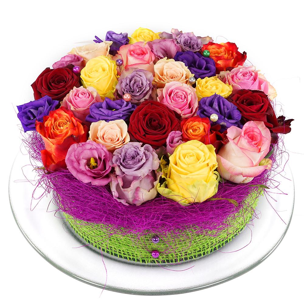 Gemengde rozen bloementaart bezorgen