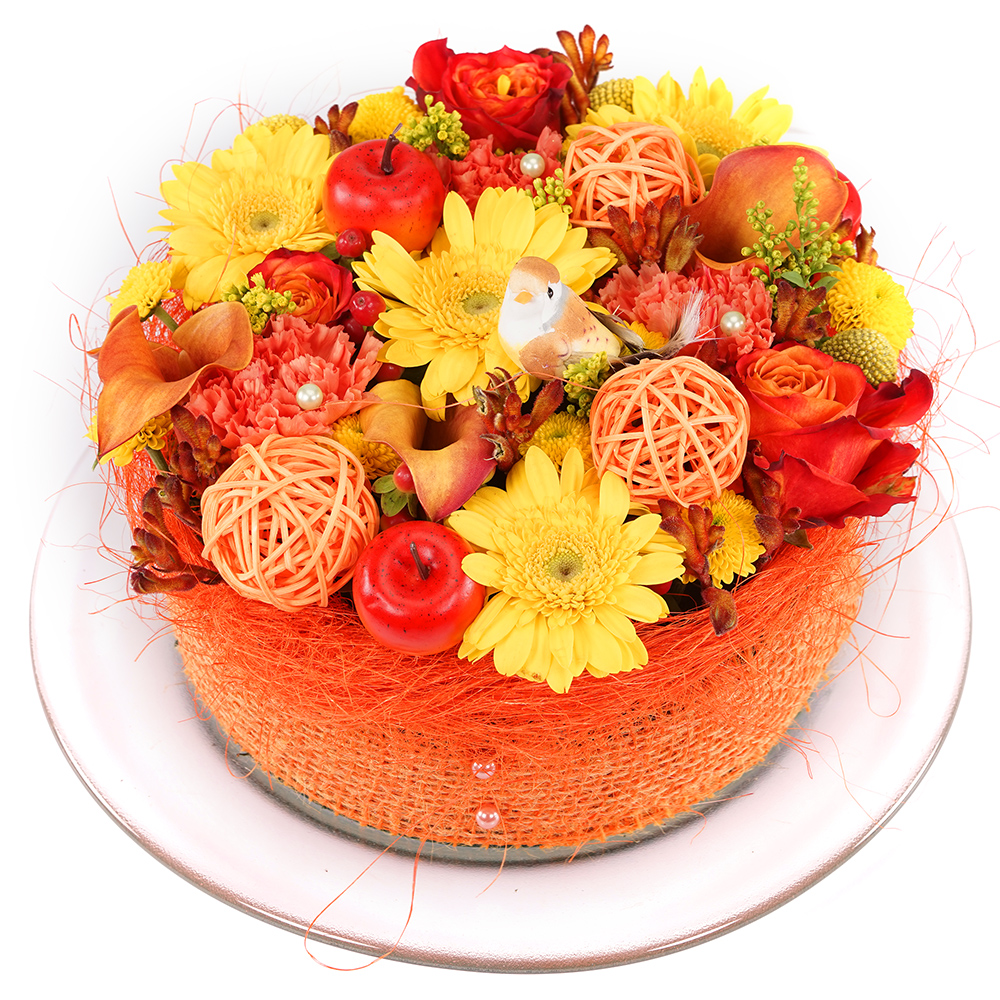 Geel oranje bloementaart kopen