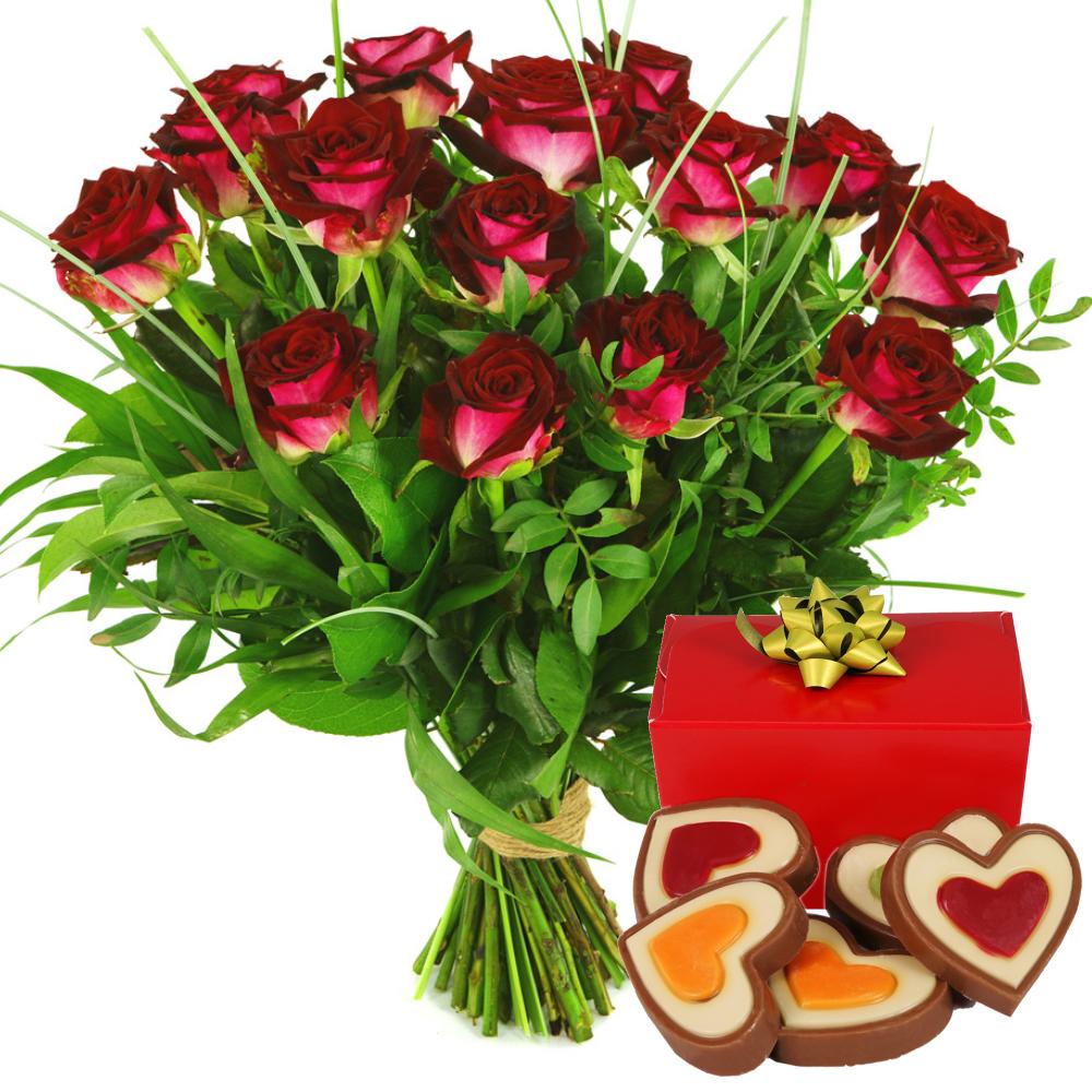 Rode rozen met chocolade bezorgen kopen doe je bij van der Voort