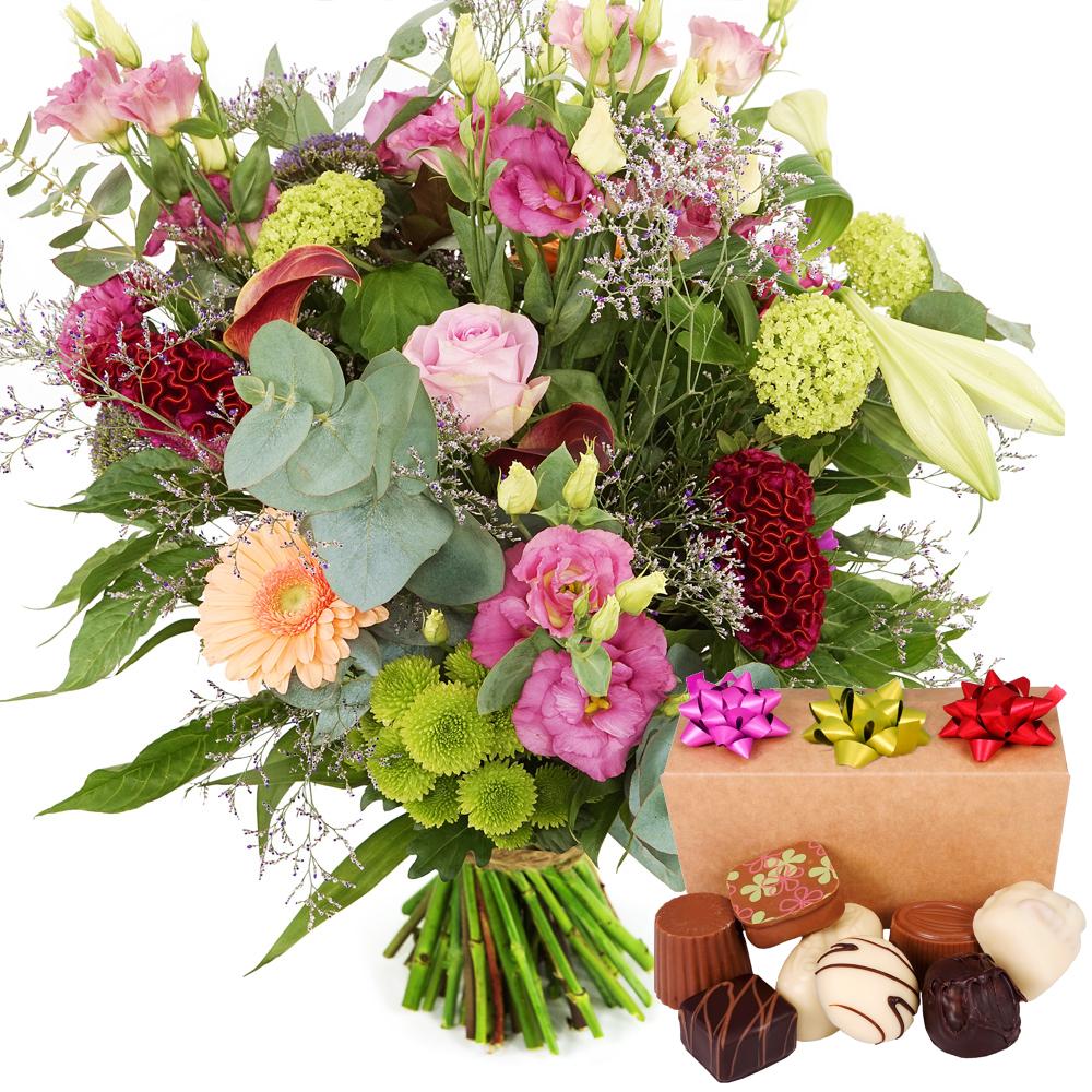 Landelijke bloemen met bonbons versturen