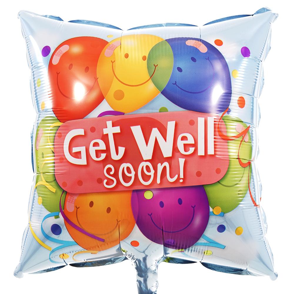 Get well soon vierkante ballon bezorgen