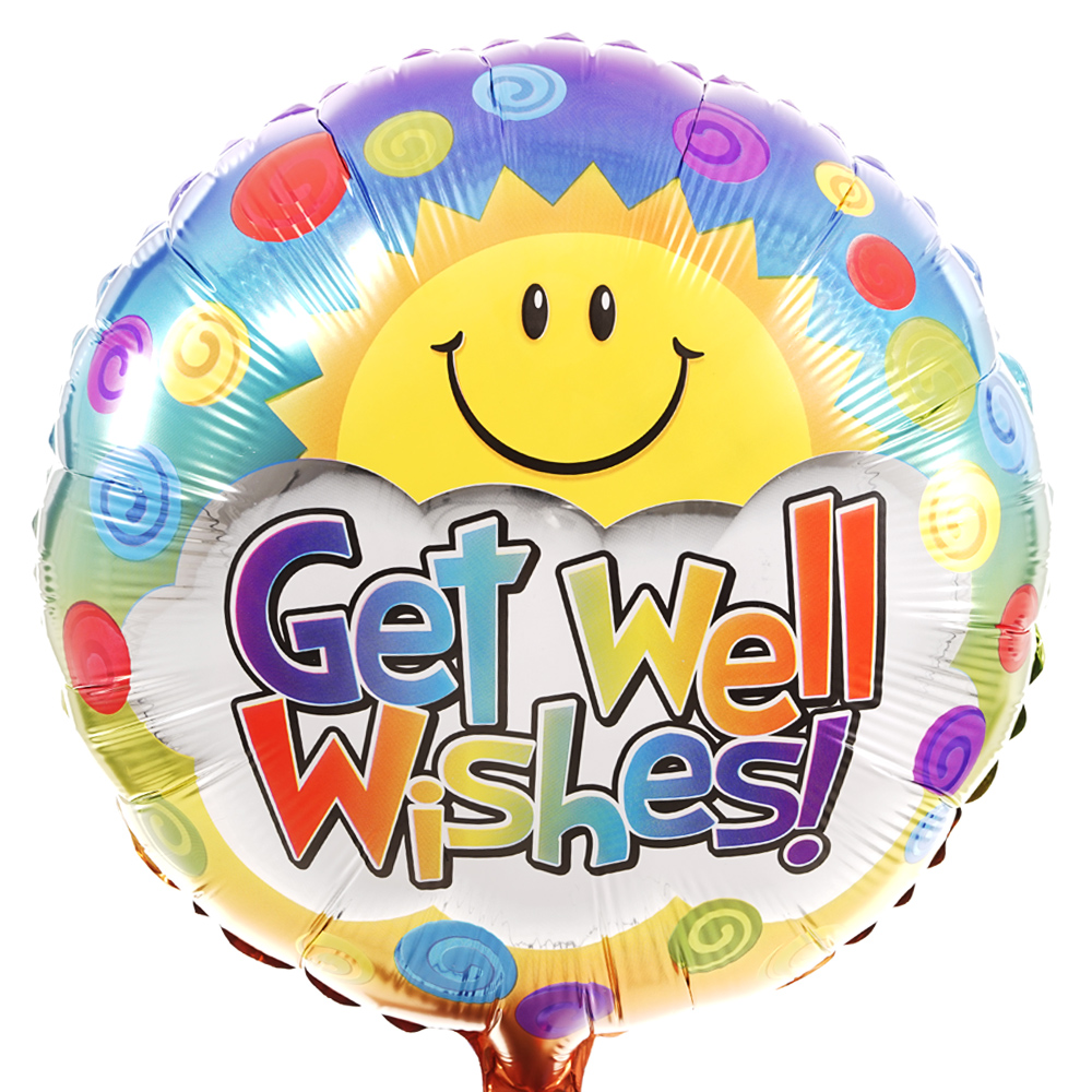 Get well wishes ballon sturen