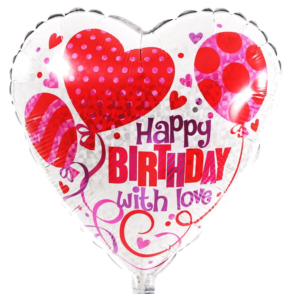 Happy Birthday liefdes ballon bestellen