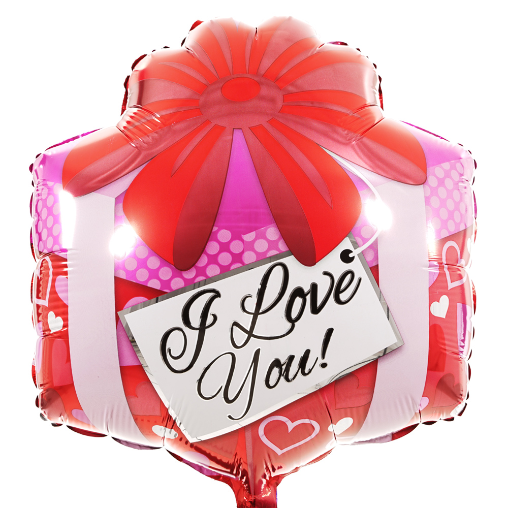 I Love You vierkant ballon bestellen