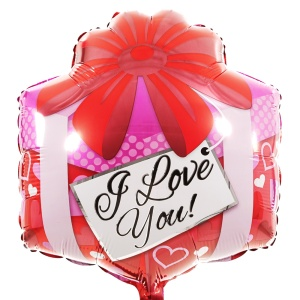 I Love you vierkant ballon