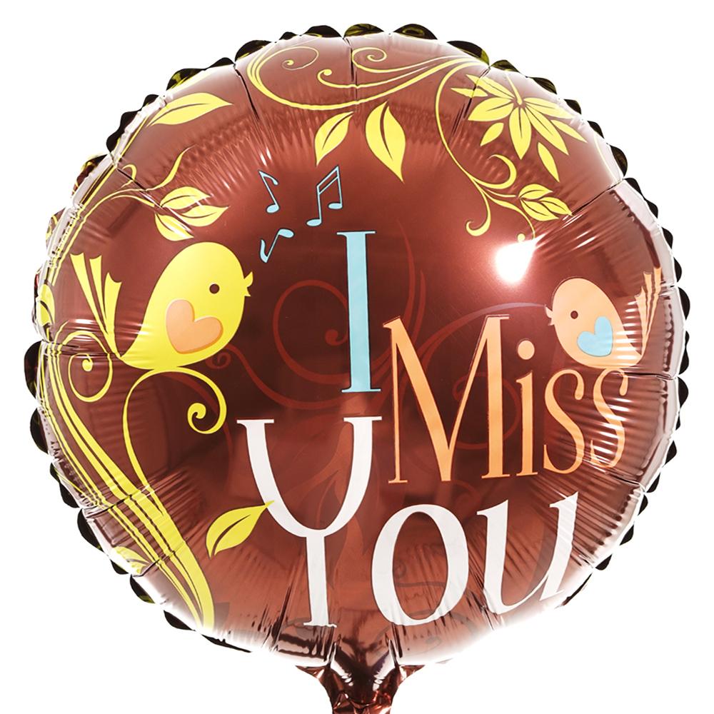 I miss you ballon laten bezorgen