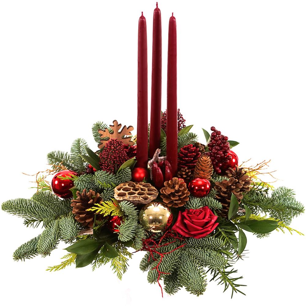 Rond tafel kerststuk kopen