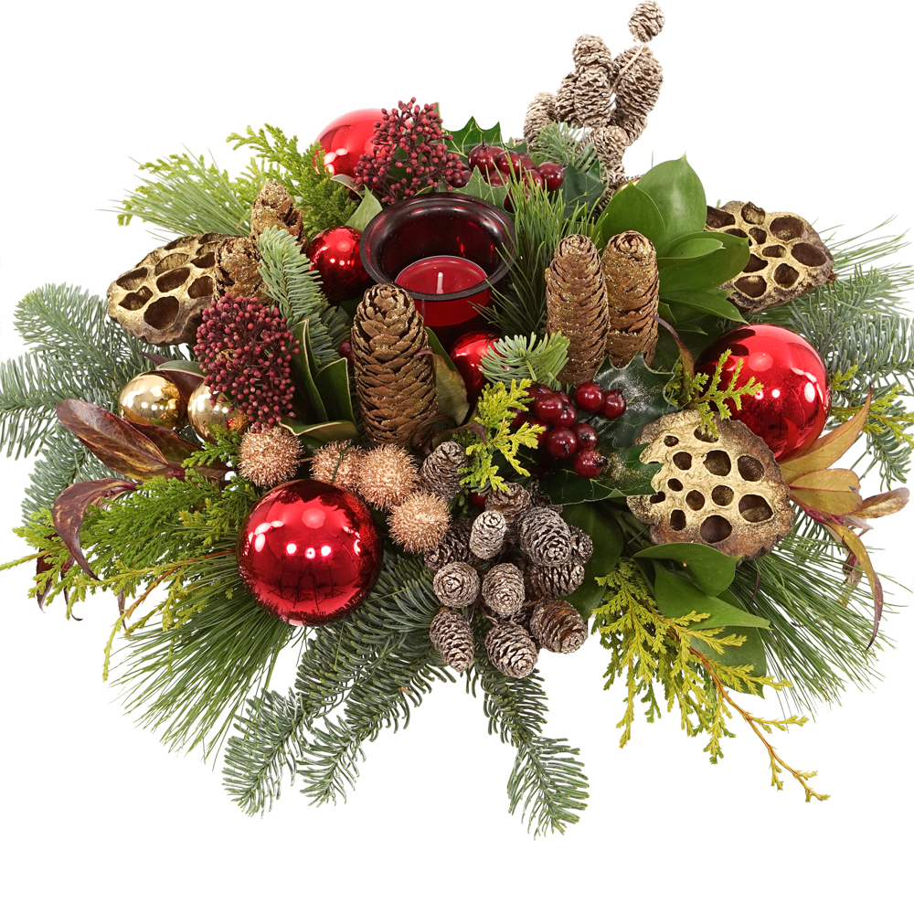 kerststuk-rood-goud-waxinelichtje-bestellen