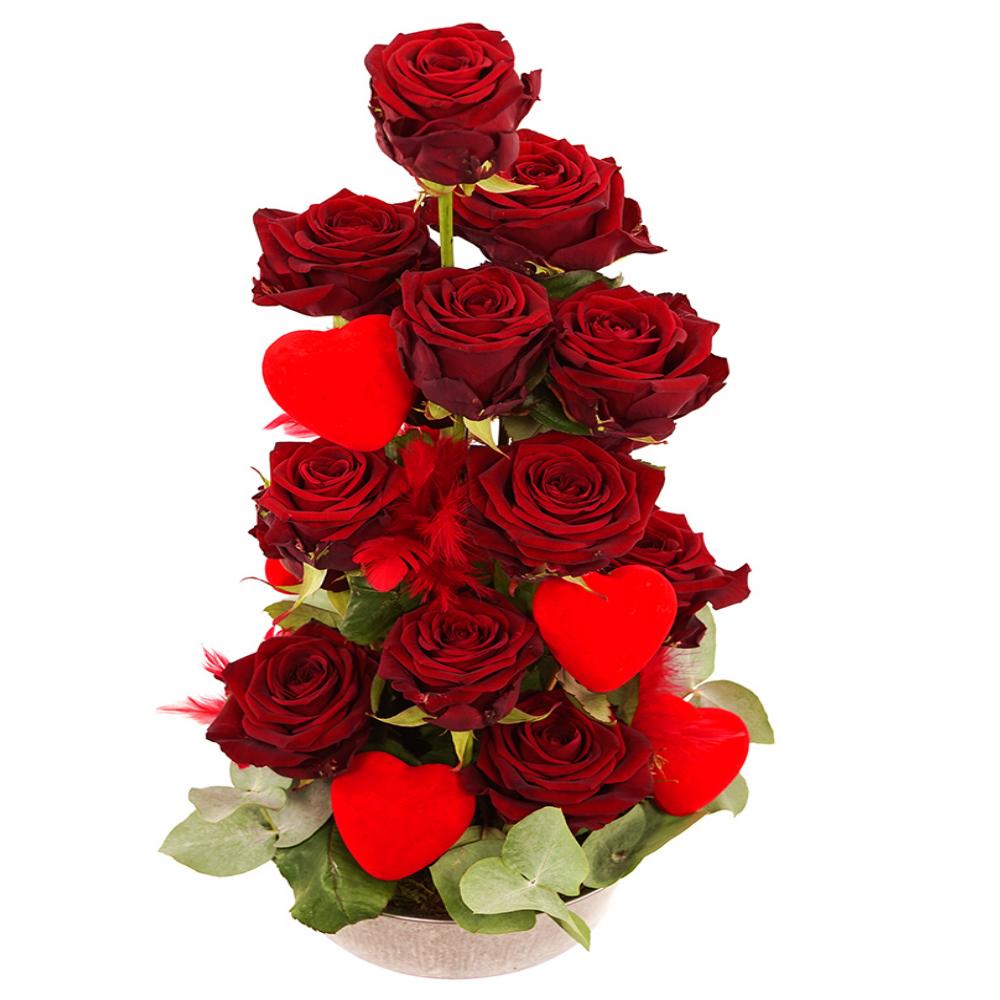 Toren van rode rozen bezorgen